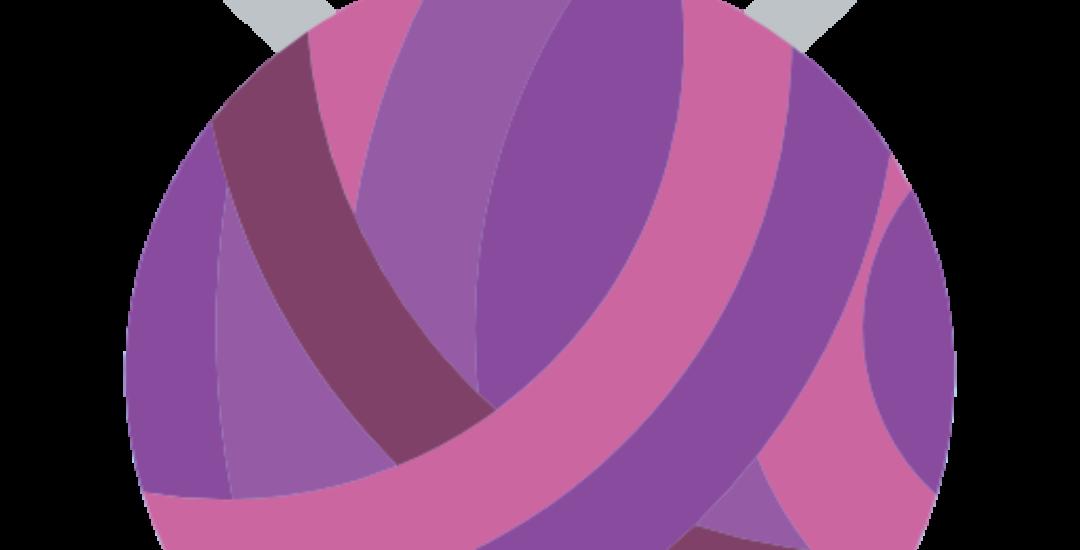 knitting logo colorful