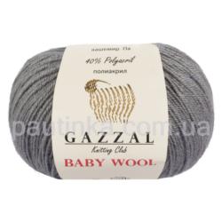 Gazzal Baby wool (Газзал беби Вул) 818 серый темный - шерстяная пряжа