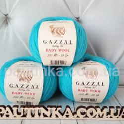 Gazzal Baby wool (Газзал беби Вул) 820 бирюза светлая - шерстяная пряжа
