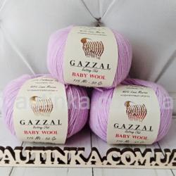 Gazzal Baby wool (Газзал беби Вул) 823 фиолет - шерстяная пряжа