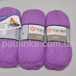 Пряжа Ярнарт Элит - YarnArt Elite яркий фиолет 75