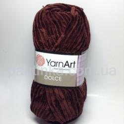 Плюшевая пряжа Дольче (Dolce YarnArt) 775 шоколад