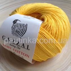 Gazzal Baby Cotton (Газзал беби коттон) 3417 желтый