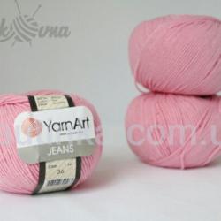 Yarn Art Jeans (Джинс Ярнарт) 36 розовый