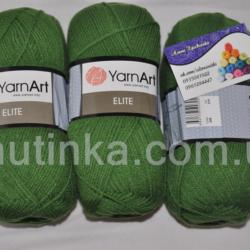 Пряжа Ярнарт Элит - YarnArt Elite 248 Зеленый