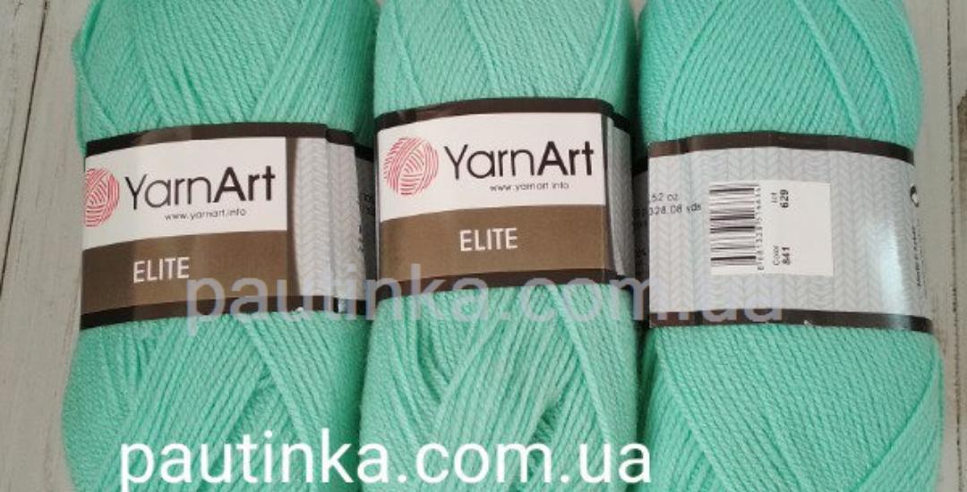 Пряжа YarnArt Elite 841 мята