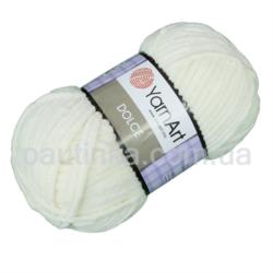 Плюшевая пряжа Дольче (Dolce YarnArt) 745 молочный