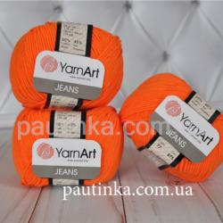 Yarn Art Jeans (Джинс Ярнарт) 77 оранжевый