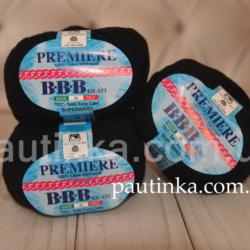 Премьер BBB Premier  Меринос 100%  200 черный Итальянская пряжа
