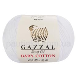 Gazzal Baby Cotton (Газзал беби коттон) 3432 белый