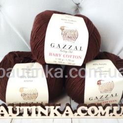 Gazzal Baby Cotton (Газзал беби коттон) 3436 шоколад