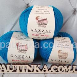 Gazzal Baby wool (Газзал беби Вул) 822 т. бирюза - шерстяная пряжа