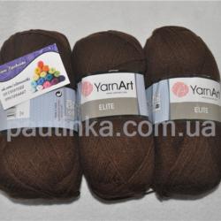 Пряжа Ярнарт Элит - YarnArt Elite 05 коричневый