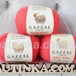Gazzal Baby wool (Газзал беби Вул) 819 коралл - шерстяная пряжа
