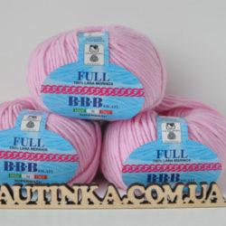 Фулл БББ (Full BBB) 100% итальянский меринос - розовый