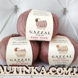 Gazzal Baby wool (Газзал беби Вул) 835 какао - шерстяная пряжа