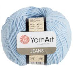 Yarn Art Jeans (Джинс Ярнарт) 75 голубой светлый