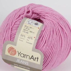 Yarn Art Jeans (Джинс Ярнарт) 20 розовый