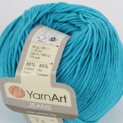 Yarn Art Jeans (Джинс Ярнарт) 55 бирюза яркая