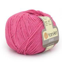 Yarn Art Jeans (Джинс Ярнарт) 42 ярко розовый