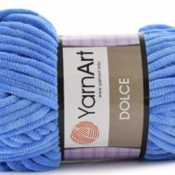 Плюшевая пряжа Дольче (Dolce YarnArt) 777 синий