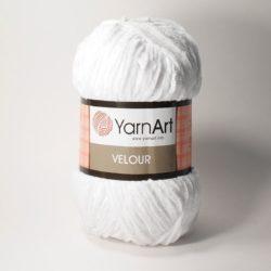 Плюшевая пряжа Велюр (Yarnart Velour) 840 белый