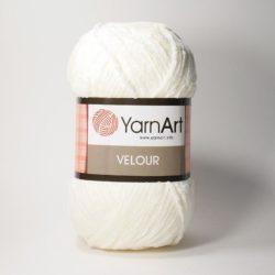 Плюшевая пряжа Велюр (Yarnart Velour) 841 молочный