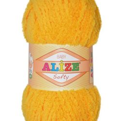 Плюшевая пряжа Softy Alize (Софти Ализе) 216 желтый