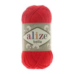 Bella Alize (Белла) - 56 красный - хлопковая пряжа