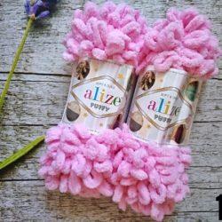Alize Puffy (Пуффи Ализе) 185-розовый - упаковка 5 мотков