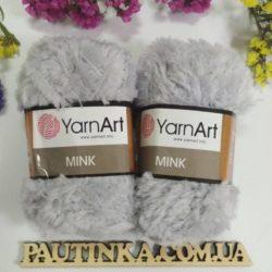 меховая пряжа YarnArt Mink (Минк) - 334 серый