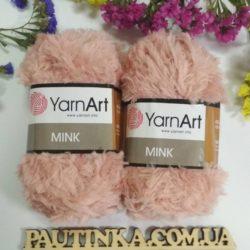 меховая пряжа YarnArt Mink (Минк) - 341 пудра