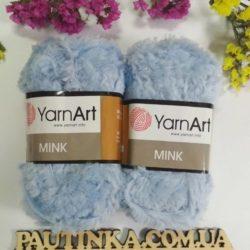 меховая пряжа YarnArt Mink (Минк) - 351 голубой