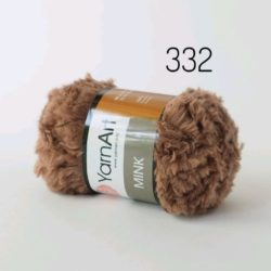 меховая пряжа YarnArt Mink (Минк) - 332 св. коричневый