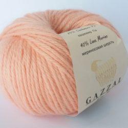 Gazzal Baby wool XL (Газзал беби вул хл) 834 персик