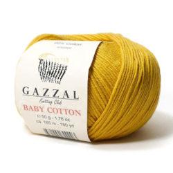Gazzal Baby Cotton (Газзал беби коттон) 3447 горчица