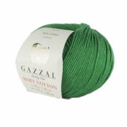 Gazzal Baby Cotton (Газзал беби коттон) 3456 зеленый