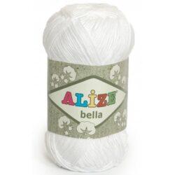 Bella Alize (Белла) - 55 белый - хлопковая пряжа