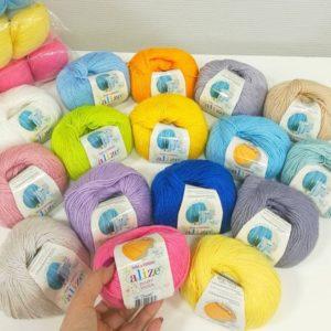 Baby wool Alize (Беби вул Ализе) шерстяная пряжа
