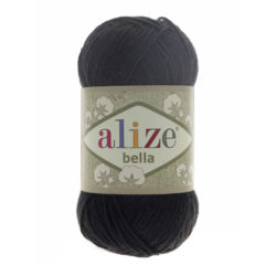 Bella Alize (Белла) - 60 черный - хлопковая пряжа