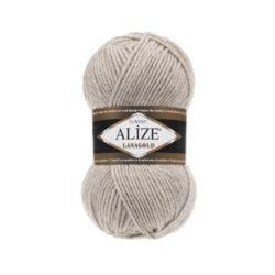 Лана голд (Alize Lana Gold) 152 серо-бежевый меланж