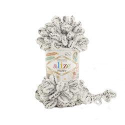 Alize Puffy (Пуффи Ализе) 686 белый в точку