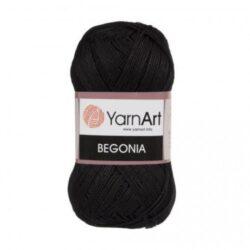 Begonia (Бегония) Мерсеризованный хлопок 100% - 999 черный