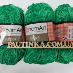 Плюшевая пряжа Велюр (Yarnart Velour) 856 зеленый