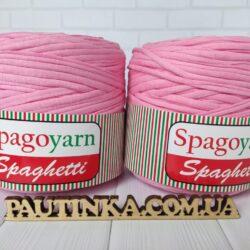 Спагетти SPAGOYARN SPAGHETTI - розовый- трикотажная ленточная пряжа