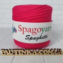 Спагетти SPAGOYARN SPAGHETTI - малиновый - трикотажная ленточная пряжа