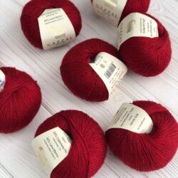 Gazzal Baby wool (Газзал беби Вул) 816 бордо - шерстяная пряжа