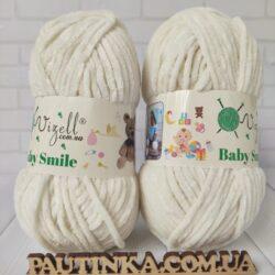 Baby Smile Vizell - 002 молочный - плюшевая пряжа