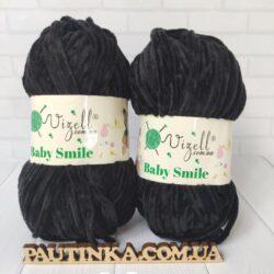 Baby Smile Vizell - 10 черный - плюшевая пряжа