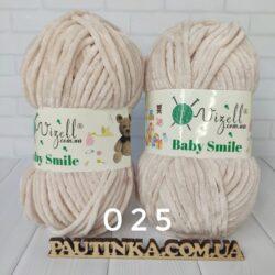Baby Smile Vizell - 25 светлый беж - плюшевая пряжа